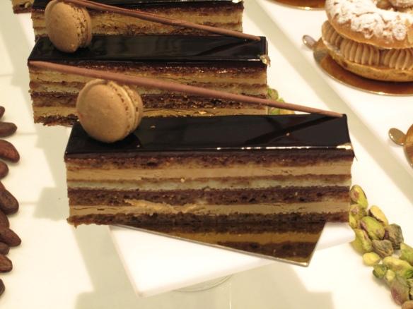 Opera Cake Plating Opera Cake Tiramisu