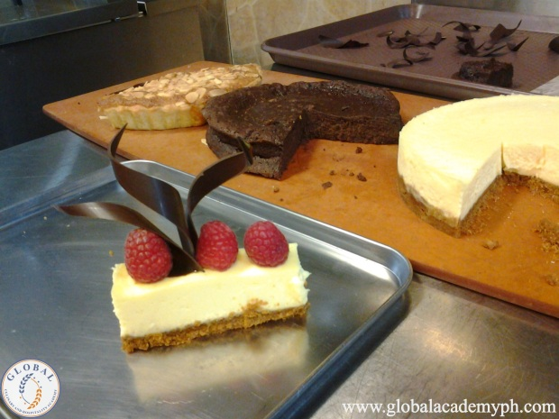 Day 6 (Plated Desserts) Cheesecake with Raspberry Coullis and Frangipane Tart with Chocolate Sauce (1)_new