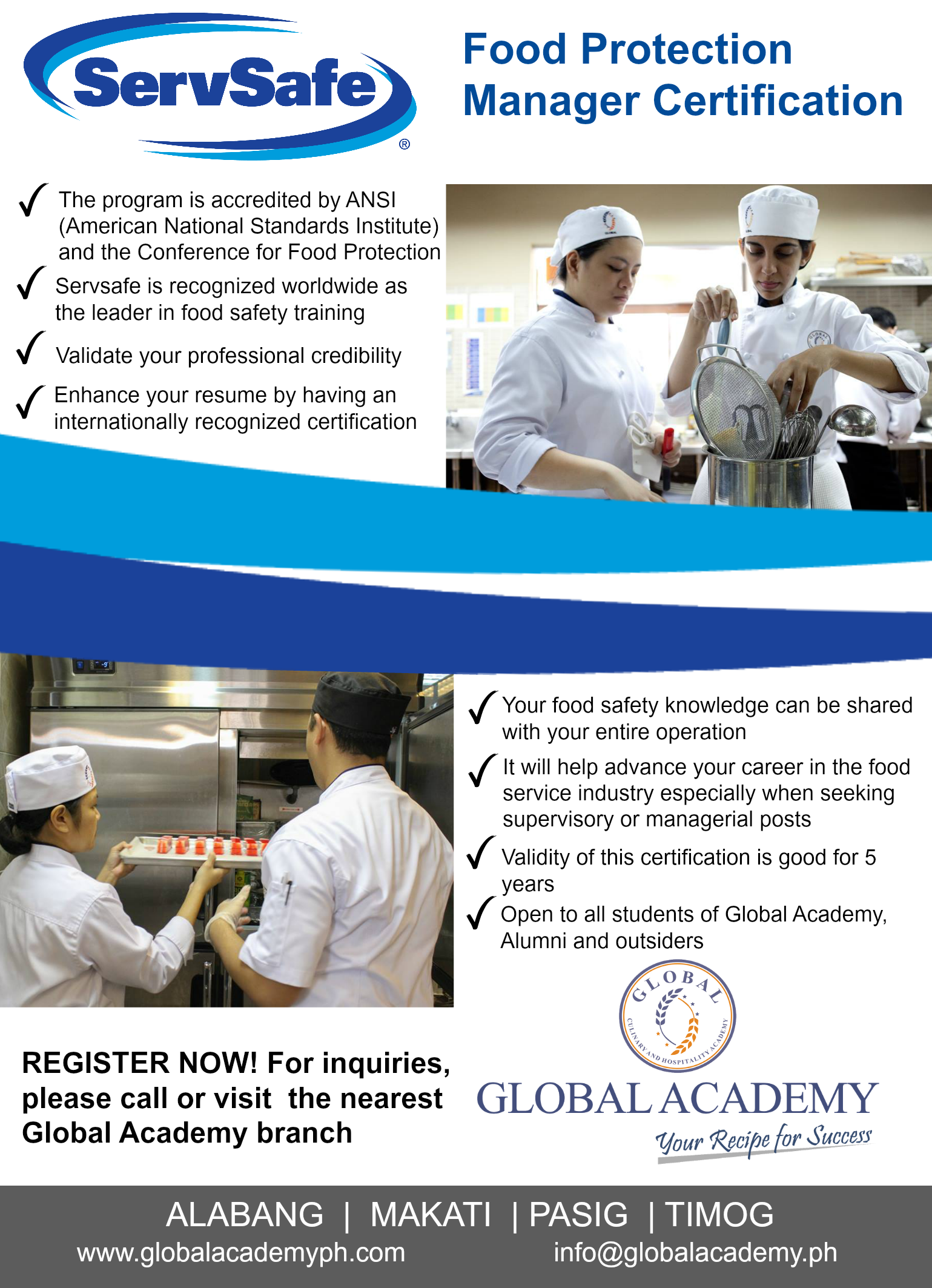 Get Your Servsafe Food Protection Manager Course In Global Academy